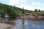 River fishing in the Bob Marshall Wilderness