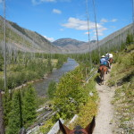 Riding into camp